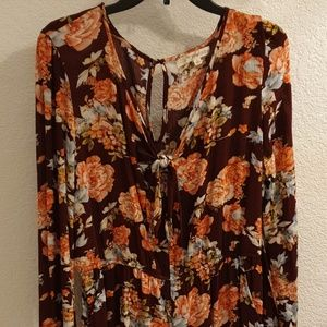 Other - WOMAN FLOWER DESIGN ROMPER SIZE L NEW WITH TAG